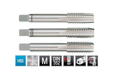 Метчик М16х2,0 (комплект 3шт) DIN352 6h HSS-G Ruko 230160