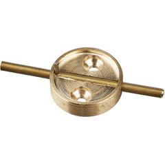 Плашка металл. с штоком, диаметр 29мм, латунь