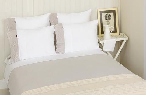 Постельное белье 2 спальное евро Luxberry Трикотаж Джерси бежевое