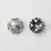 Винтажный декоративный элемент - шапочка филигранная 8х4 мм (оксид серебра) (5)