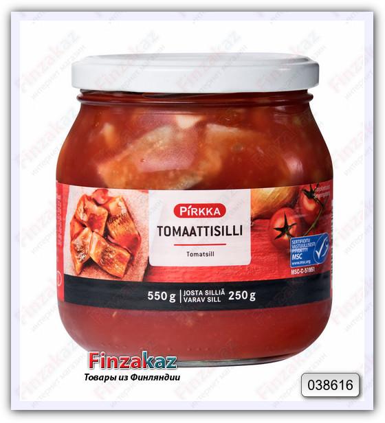 Сельдь Pirkka Tomaattisilli (в томате) 550/250 гр