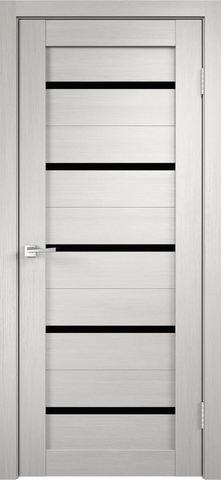 > Экошпон Duplex 26, стекло чёрное, цвет беленый дуб, остекленная