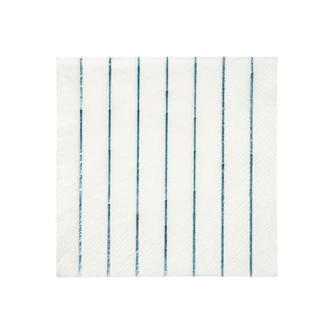 Салфетки в полоску (синяя фольга)
