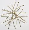 Комплект пинов с шариком (цвет - античная бронза) 60х0,7 мм, примерно 100 штук