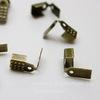 Концевик обжимной для шнура 4 мм, 9х5 мм (цвет - античная бронза), 10 штук