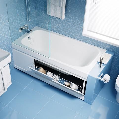 Экран под ванну Soft откидной МДФ 150 см белый