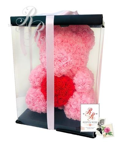 Мишка розовый с сердцем