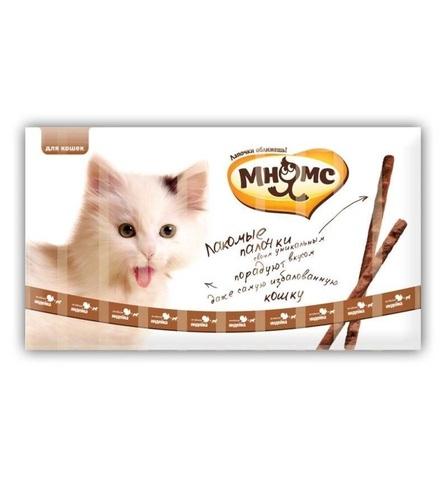 Мнямс лакомые палочки 13,5 см для кошек с индейкой и ягненком 10х5 г