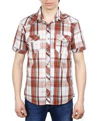 854-2 рубашка мужская, красно-белая