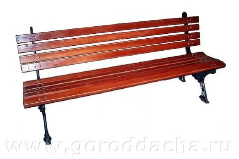 Скамейка садовая чугунная 500