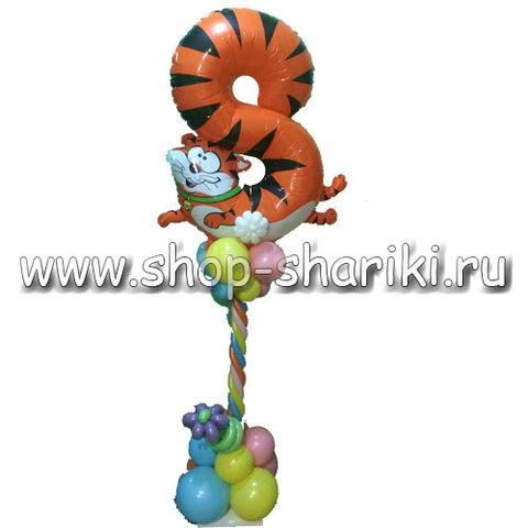 shop-shariki.ru колонна из шаров с 8 кот