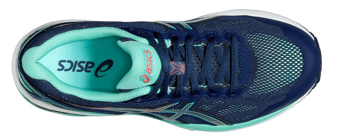 Профессиональные беговые кроссовки для женщин Asics (Асикс) GT-1000 5 синий-бирюза фото