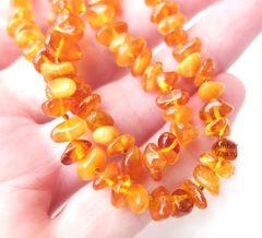 бусы барокко янтарные медового цвета