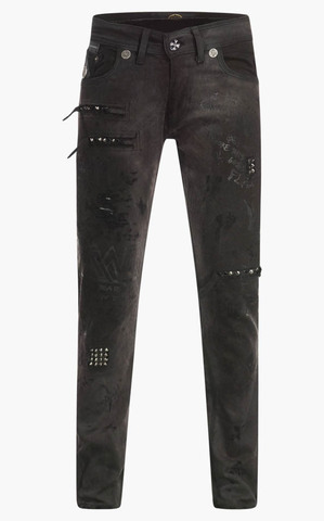 Джинсы The Saints Sinphony BLACK PRINTED GRAFFITI JEANS