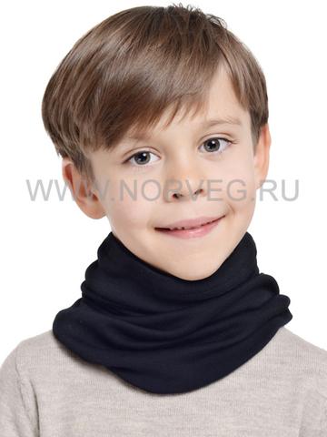 NORVEG МОНСТР баф с шерстью мериноса для детей черный