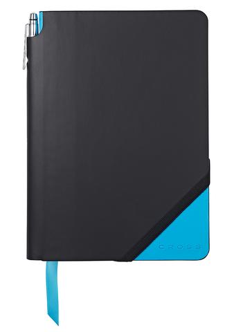 Записная книжка Cross Jot Zone, A5, 160 страниц в линейку, ручка в комплекте. Цвет - черно-св.с