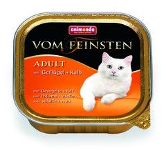 Animonda Vom Feinsten Adult консервы для взрослых кошек с домашней птицей и телятиной 100гр