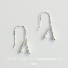 Швензы - крючки с держателем для подвески, 21 мм (цвет - серебро), пара
