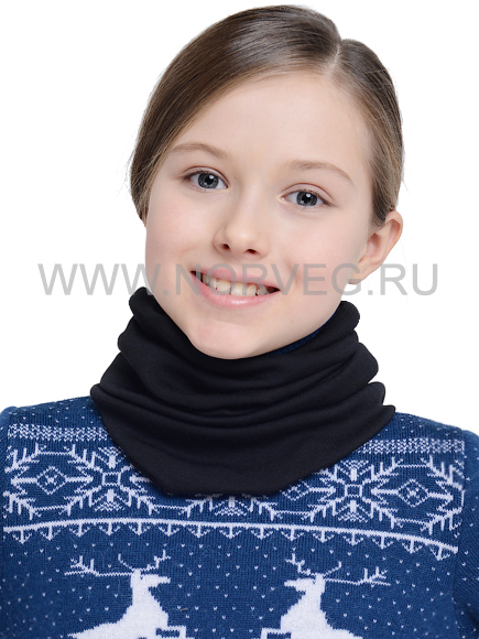 Детский баф с шерстью мериноса Norveg Монстр 7WBU черный - фото, отзывы, цена