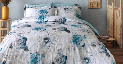 Постельное белье DONNA синий  TIVOLYO HOME Турция