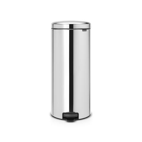 Мусорный бак newicon (30 л), металлическое внутреннее ведро, Стальной полированный, арт. 114762 - фото 1