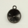 """Сеттинг - основа - подвеска TierraCast """"Грани"""" для страза 14 мм (цвет-черный никель)"""