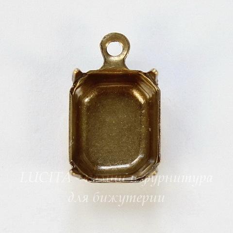 Сеттинг - основа - подвеска для страза 10х8 мм (оксид латуни)
