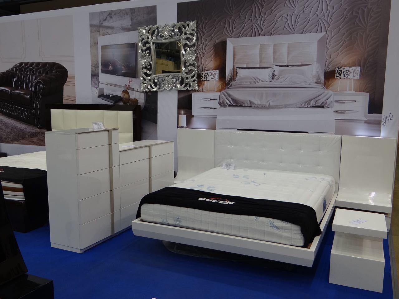 Спальня Fenicia Mobiliario 514 GRANADA белоснежная с подсветкой