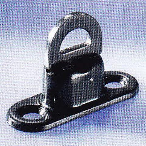 Скоба малая поворотная 17 х 11 мм, латунь, чёрная