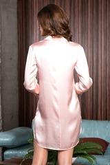 Женская рубашка из натурального шелка Rosemary розовая
