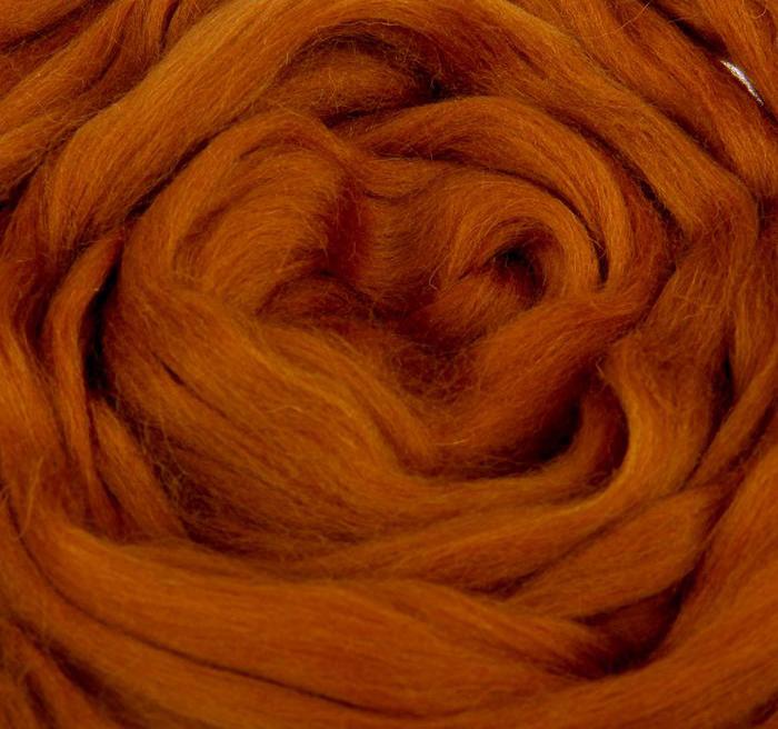 Шерсть для валяния 100% полутонкая шерсть 50 г, Камтекс.