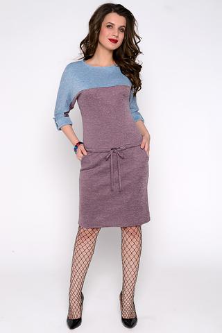 Стильное платье для уверенной в себе девушки.Рукав реглан до локтя на патах. Заниженная талия на кулиске. Функциональные карманы. (Длина: 46=97см; 48=99см; 50=102см; 52=103см;)