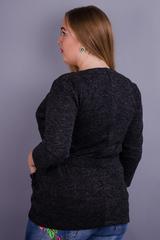 Хит. Модный женский кардиган plus size. Серый.