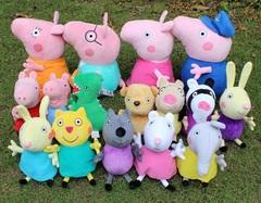 Розовая Свинка набор мягких игрушек героев мультфильма