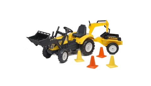 Трактор-экскаватор педальный с прицепом RANCH TRAC 2085XC