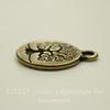 """Подвеска круглая TierraCast """"Дерево жизни"""" (цвет-античная латунь) 19х16 мм"""