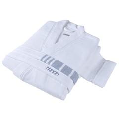 Халат женский Hamam Marine Striped белый с синим