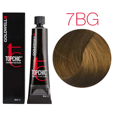 Goldwell Topchic 7BG (средний коричнево-золотистый блондин) - Cтойкая крем краска 60мл
