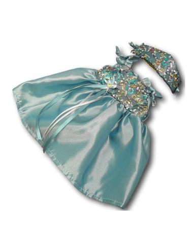 Платье вечернее - Мята. Одежда для кукол, пупсов и мягких игрушек.