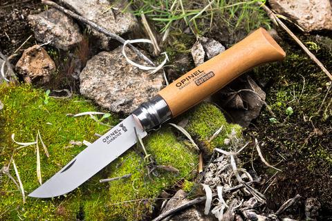 Нож Opinel №8, углеродистая сталь, бук
