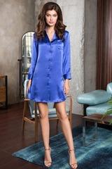 Женская рубашка из натурального шелка Rosemary синяя