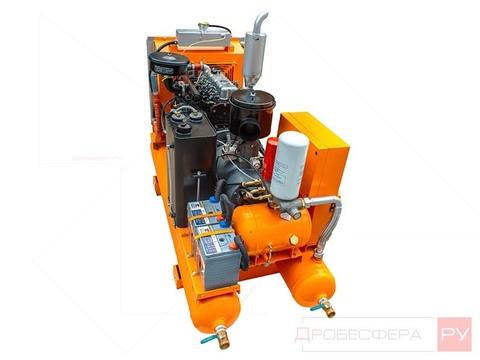 Дизельный компрессор на ресивере 5000 л/мин 8 бар