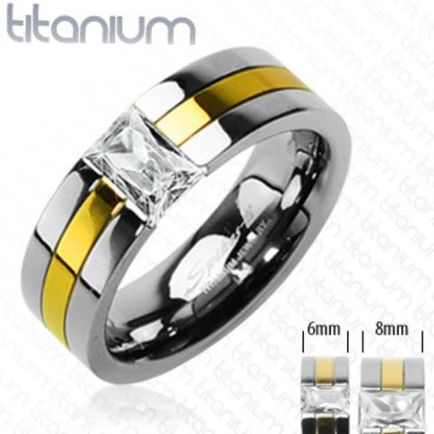 Красивое модное и стильное титановое кольцо парное для влюблённых мужское и женское SPIKES R-TI-3105