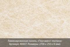 Ламинированная панель Вивальди №607 Пергамент платина
