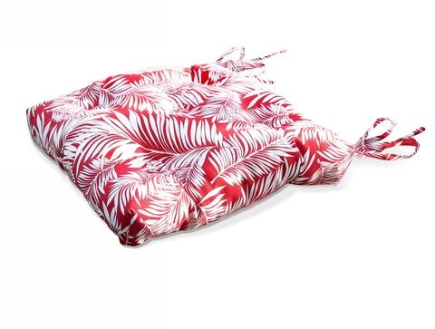 Подушка на стул Пальма красный уличная коллекция