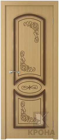 Дверь Крона Муза, цвет дуб, глухая