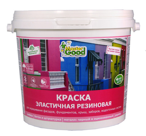 Краска резиновая эластичная зеленая темный Ral6005 2,4кг Neomid Master Good