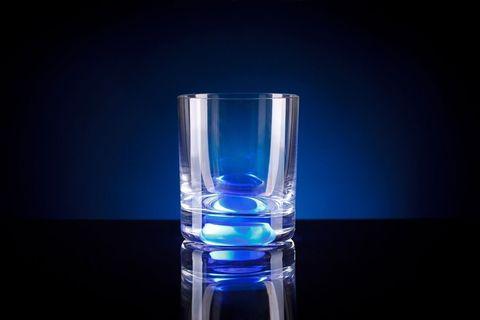 Светящийся стакан для виски GlasShine, синий