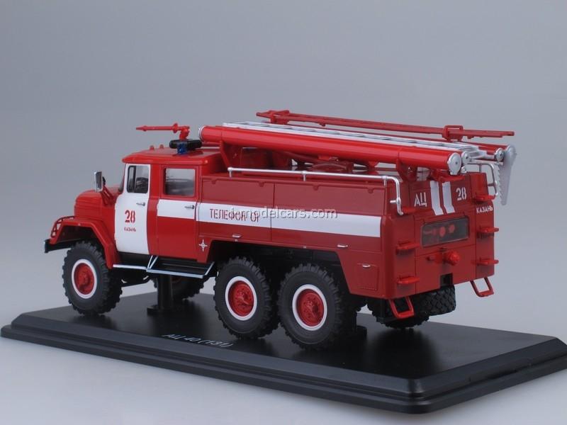 Scale model truck 1:43 ZIL-131 AC-40-137A fire truck Nizhny Novgorod 1970