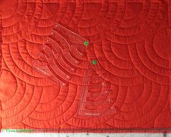 Линейка ЦИРКУЛЬ-косточка толщиной 5мм для стежки больших кругов